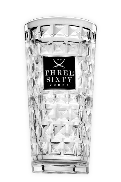 Three Sixty Vodka Longdrink-Glas 0,3l