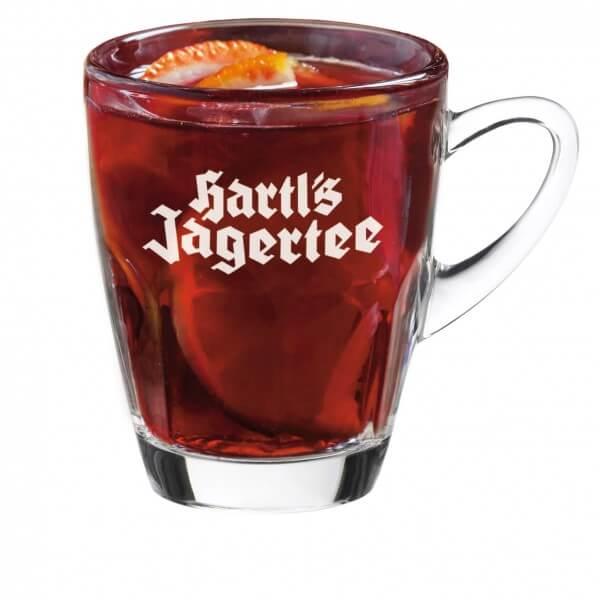 Hartl's Jagertee Glastasse (Logo satiniert) 0,2l