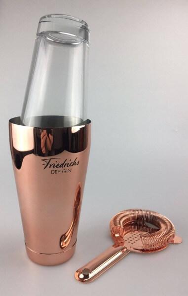 Friedrichs Dry Gin Boston Shaker mit Sieb