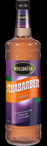 Wollbrink Rhabarber Likör mit Wodka 15% 0,7 L