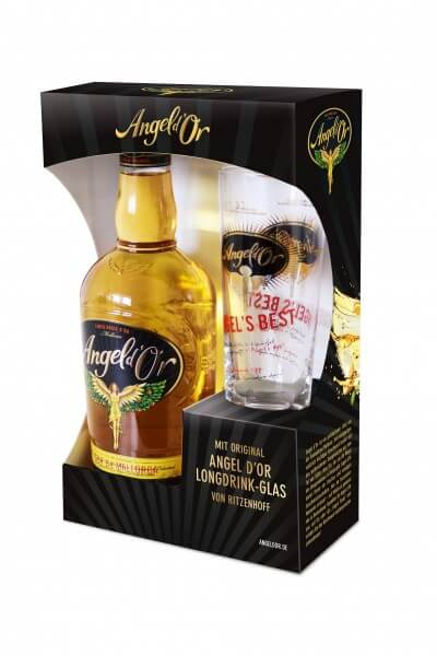 Angel d'Or 0,7L 28% vol. mit Longdrinkglas