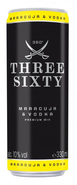 Three Sixty Vodka Maracuja 10%vol. 0,33L