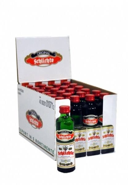 Original Schlichte Steinhäger Öfterlinge 0,04L 24er-Pack 38% vol
