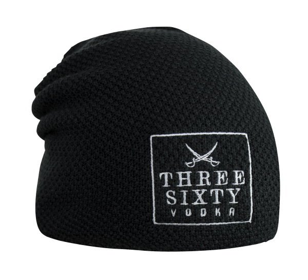 Three Sixty Vodka Beanie schwarz