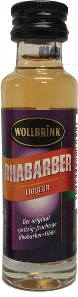 Wollbrink Rhabarber Likör mit Wodka 15% 0,02 L