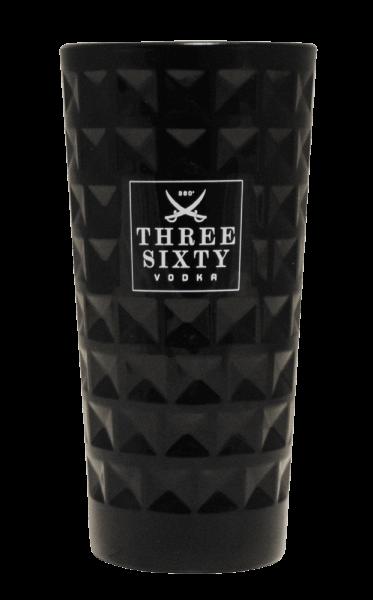 Three Sixty Vodka Longdrink-Glas Black 0,3l