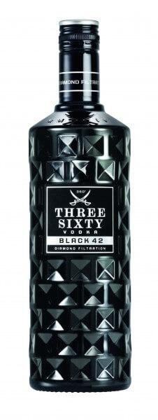 Three Sixty Vodka Black 42%vol. 0,7L