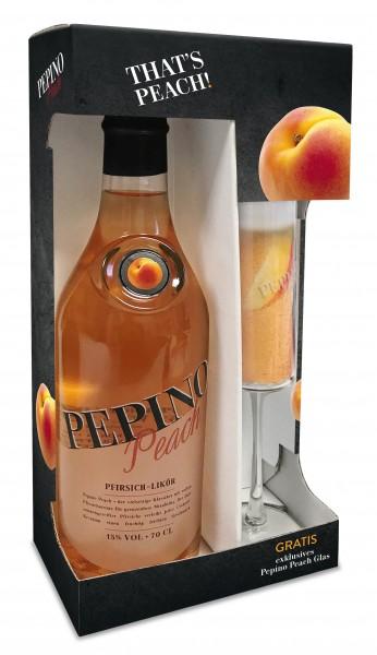 Pepino Peach 0,7 L mit gratis Sektglas