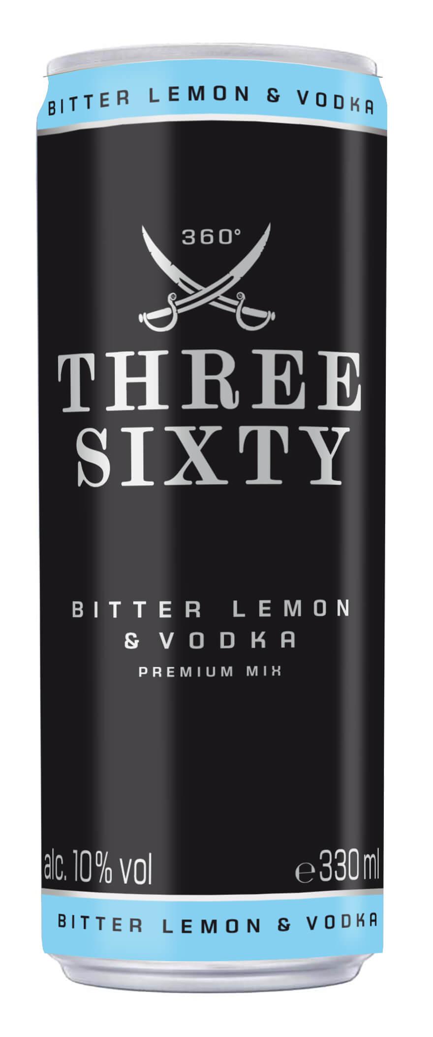 Firmen Weihnachtsgeschenke F303274r Kunden.Three Sixty Vodka Lemon 10 Vol 0 33l