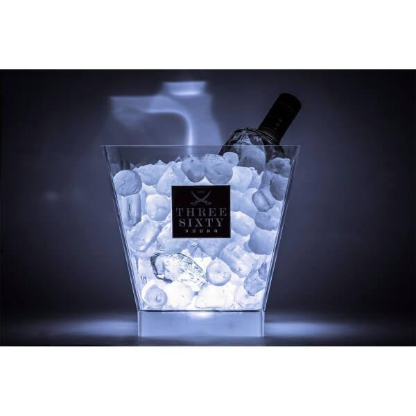 """Three Sixty Vodka Bundle """"ICE BUCKET + LED-Einsatz"""""""
